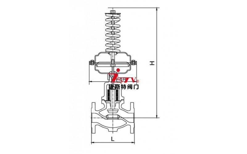 自力式阀后压力调节阀结构图