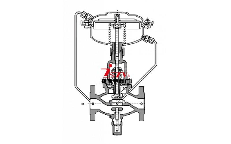 自力式流量调节控制阀结构图